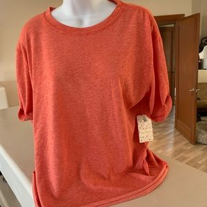 NWT Free People T-Shirt XS, Poppy Color